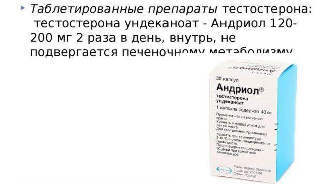 Таблетированные формы тестостерона