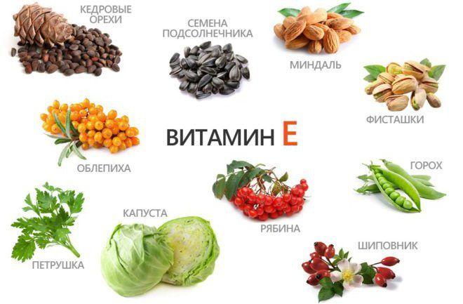 Витамины A и E