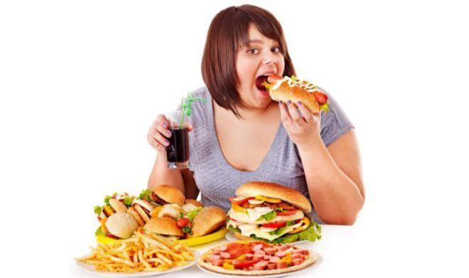 Злоупотребление неправильной пищей