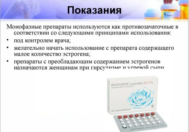 Монофазные препараты