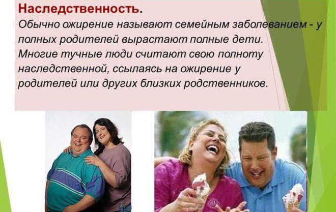 Наследственность ожирения