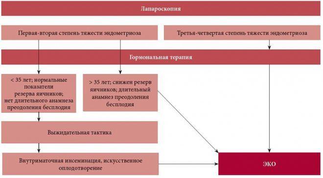 Общая стратегия преодоления бесплодия при эндометриозе