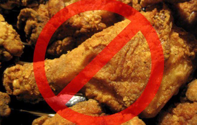 Отказ от жареной и печеной пищи