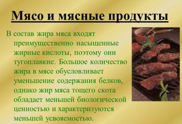 Пища с большим количеством мяса и жира