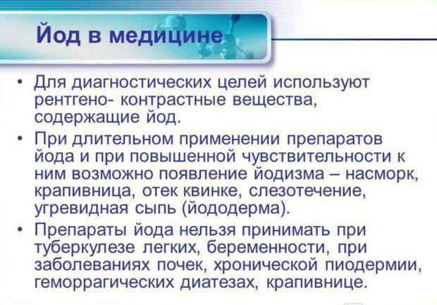 Препараты содержащие йод.