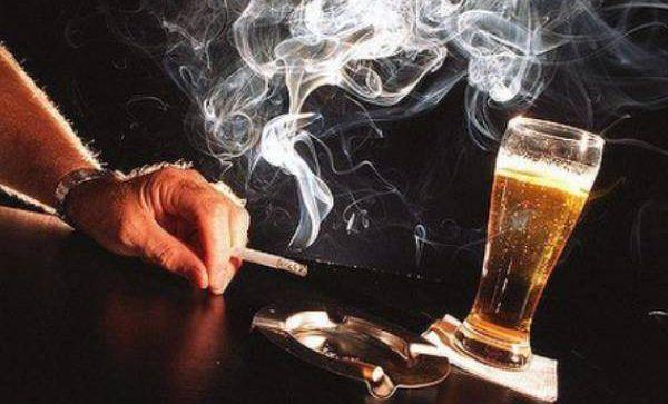 Табакокурение, алкоголизм