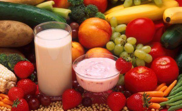 Овощи, фрукты, кисломолочные продукты