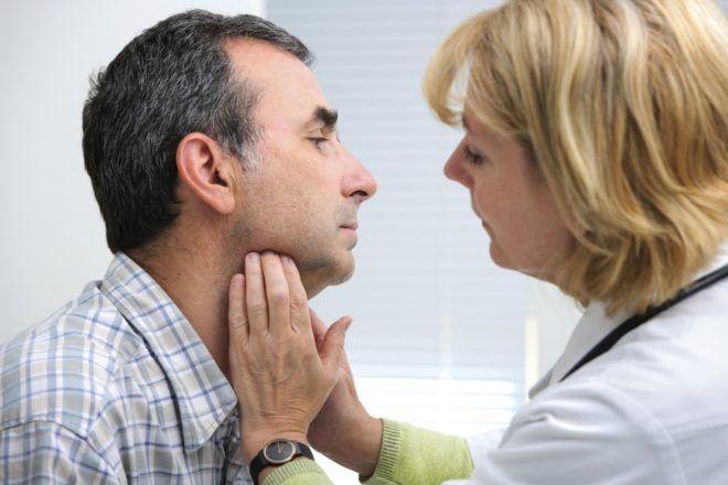 Симптомы заболевания щитовидной железы у мужчин и лечение
