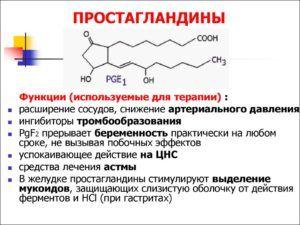 Функции простагландинов