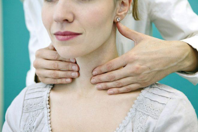 Массаж щитовидки