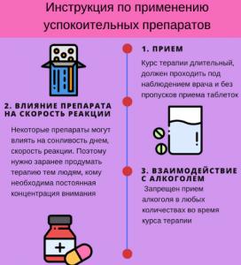 Инструкция по применению успокоительных препаратов